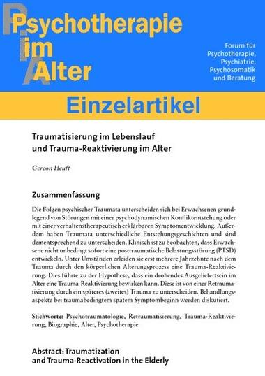 Traumatisierung im Lebenslauf und Trauma-Reaktivierung im Alter (PDF ...