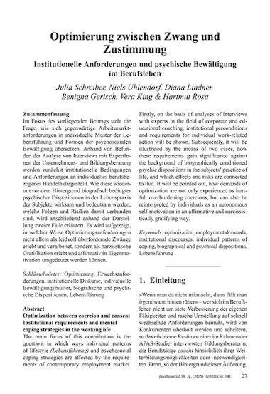 Optimierung zwischen Zwang und Zustimmung. Institutionelle ...