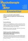 Liebe, Lust und andere Leidenschaften - Psychoanalytische Aspekte der Triebentwicklung im Alter (PDF-E-Book)