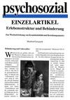 Erlebensstruktur und Behinderung. Zur Wechselwirkung von Krankheitsbild und Beziehungsmuster (PDF-E-Book)