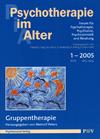 Psychotherapie im Alter Nr. 5: Gruppentherapie, herausgegeben von Meinolf Peters