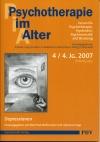 Psychotherapie im Alter Nr. 16: Depressionen, herausgegeben von Manfred Wolfersdorf und Johannes Kipp