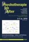 Psychotherapie im Alter Nr. 27: Generationendialog - Geben und Nehmen, herausgegeben von Astrid Riehl-Emde und Johannes Kipp