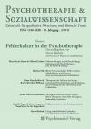 Psychotherapie & Sozialwissenschaft 2/2011: Fehlerkultur in der Psychotherapie