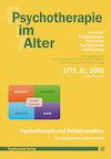 Psychotherapie im Alter Nr. 50: Psychotherapie und Palliativmedizin, herausgegeben von Gabriela Stoppe