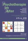 Psychotherapie im Alter Nr. 58: Altersangst, herausgegeben von Eva-Marie Kessler und Reinhard Lindner