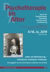 Psychotherapie im Alter Nr. 64: Leben mit Behinderung - Individuum, Institution, Profession, herausgegeben von Ines Himmelsbach und Bertram von der Stein