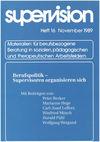 supervision Nr. 16: Berufspolitik - Supervisoren organisieren sich